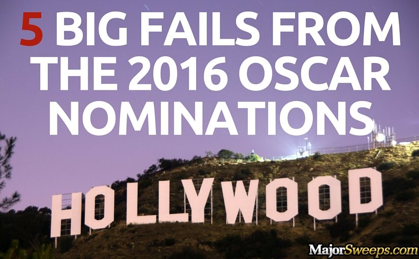 2016 Oscar nomination fails Academy Awards majorsweeps